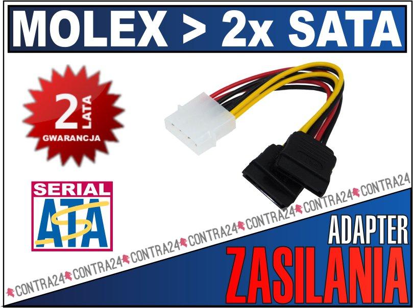 Adapter zasilania molex SATA.